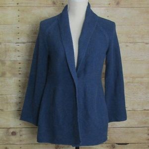 CHICO'S BUTTON FRONT CARDIGAN BLUE EUC SIZE MED